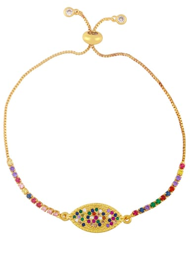 Brass Cubic Zirconia Butterfly Vintage Adjustable Bracelet