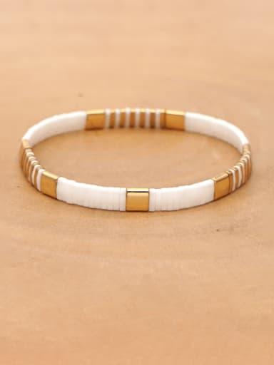 TL B190144G Bohemian Trendy Fashion Beaded Tila Rice Bead Handmade Weave Bracelet