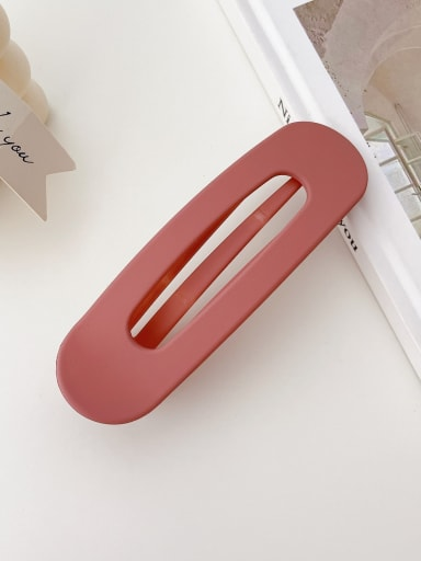 Korean pink 11cm Alloy Resin Trend Geometric  Hair Barrette