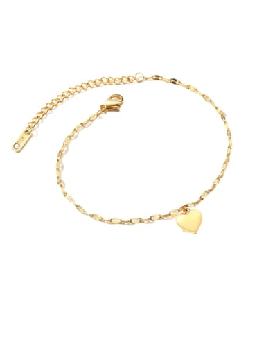 Stainless steel Heart Minimalist Link Bracelet