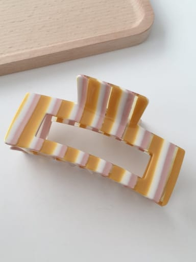 F134 Cellulose Acetate Minimalist Geometric Alloy Jaw Hair Claw