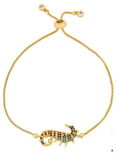 brc27 B Alloy Cubic Zirconia Zodiac Vintage Link Bracelet