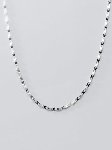 925 Sterling Silver Irregular Minimalist Choker Necklace