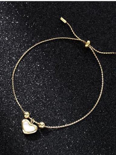 Titanium Steel Shell Heart Minimalist Link Bracelet