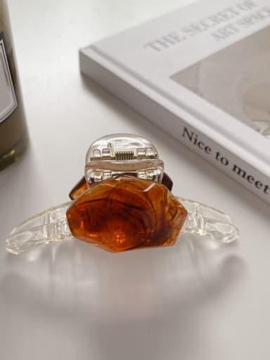 Caramel 7.5cm Alloy Resin Minimalist Geometric  Jaw Hair Claw