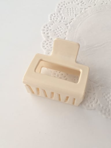 Rice white Cellulose Acetate Minimalist Geometric Alloy Jaw Hair Claw