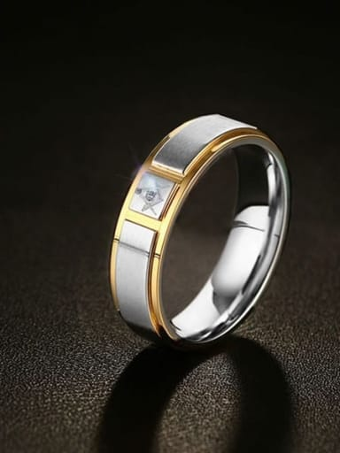 Stainless steel Round Minimalist Band Ring