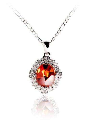 Copper Crystal Geometric Minimalist Pendant Necklace