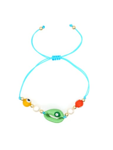 Stainless steel Freshwater Pearl Multi Color Mouth Bohemia Woven Bracelet