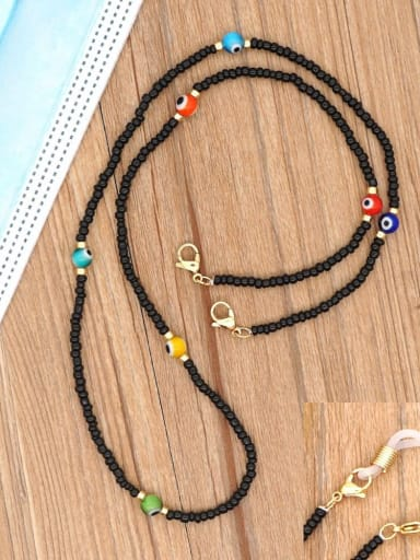 GZ N200002F Stainless steel Bead Multi Color Evil Eye Bohemia Hand-woven Necklace