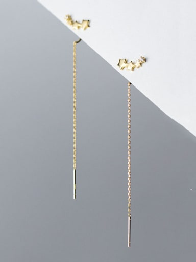 925 Sterling Silver Tassel Trend Threader Earring
