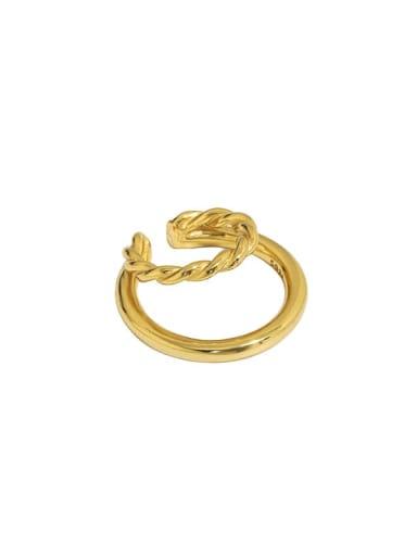 Gold [single] 925 Sterling Silver Geometric Minimalist C-shaped twist Clip Earring