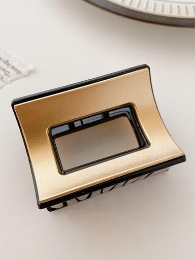Black gold 6cm Alloy Resin Minimalist Geometric Multi Color Jaw Hair Claw