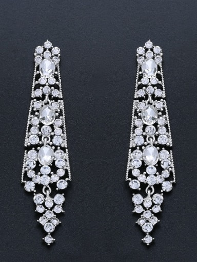 Alloy Rhinestone Geometric Bohemia Drop Earring