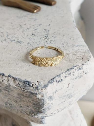 J 592 banana ring 925 Sterling Silver Hollow Irregular Cute Midi Ring