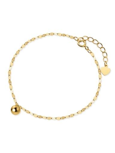 925 Sterling Silver Bead Geometric Minimalist Link Bracelet