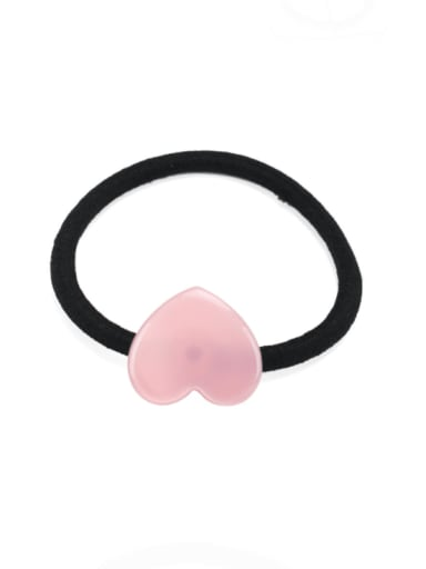 Pink Cellulose Acetate Minimalist Heart Hair Rope