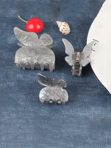 Grey medium a Cellulose Acetate Minimalist Butterfly Zinc Alloy Jaw Hair Claw