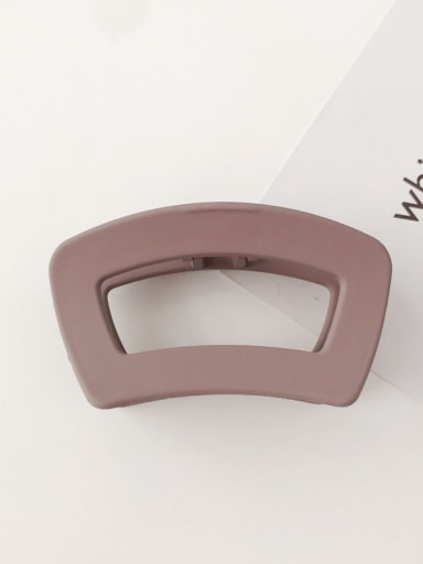 Red bean paste Cellulose Acetate Minimalist Geometric Alloy Jaw Hair Claw