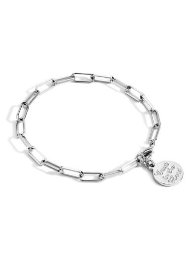 Platinum Bracelet Brass Geometric Vintage Link Bracelet