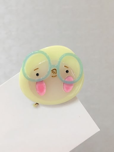 Yellow duck Cellulose Acetate Cute Dog Alloy Hair Barrette