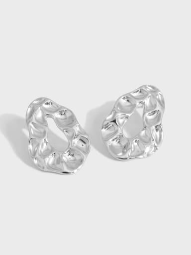 925 Sterling Silver Geometric Vintage Stud Earring