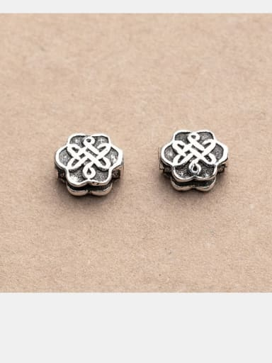 925 Sterling Silver With Flower shape Separate Beads Handmade DIY Jewelry Accessories