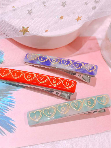 Alloy  Cellulose Acetate Minimalist Geometric Hair Barrette