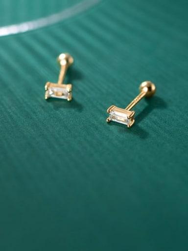 925 Sterling Silver Cubic Zirconia Geometric Minimalist Chandelier Earring