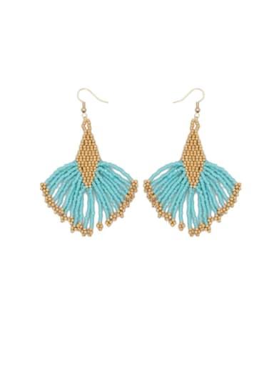 MI E210018A Stainless steel Multi Color Miyuki beads Geometric Bohemia Hook Earring