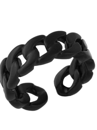 black Brass Geometric Hip Hop Band Ring