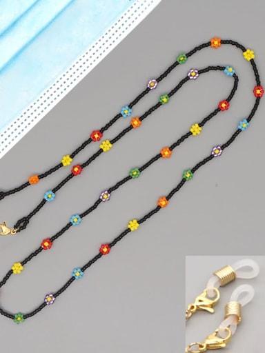 MG N200022B Stainless steel Miyuki Bead Multi Color Flower Bohemia Necklace