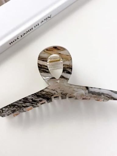 Ink black 10.5cm Acrylic Minimalist Geometric Alloy Jaw Hair Claw