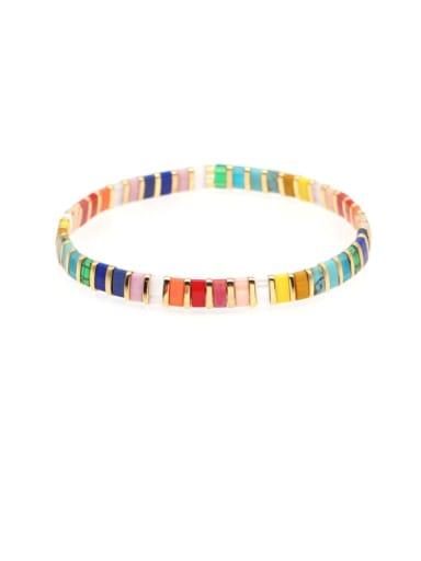 Tila Bead Bohemia Multi Color Geometric Pure handmade  Bracelet