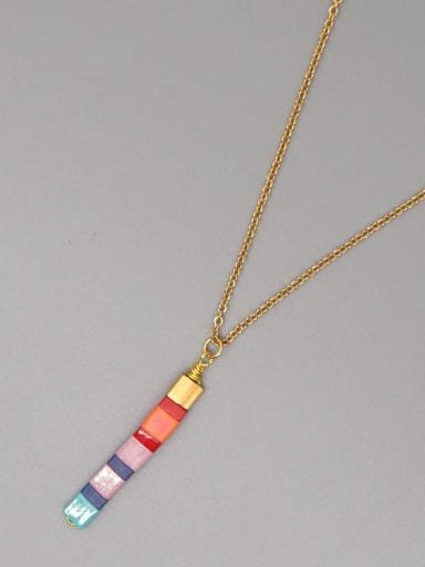 TL N200017D Stainless steel Miyukitila Geometric Bohemia Pure handmade Necklace