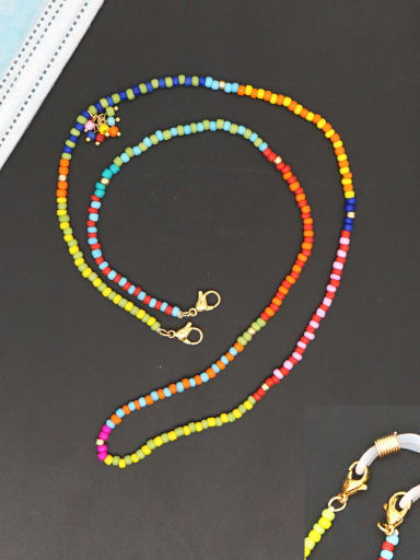 GZ N200004A Stainless steel Multi Color TOHAO  Bead  Bohemia Hand-woven Necklace