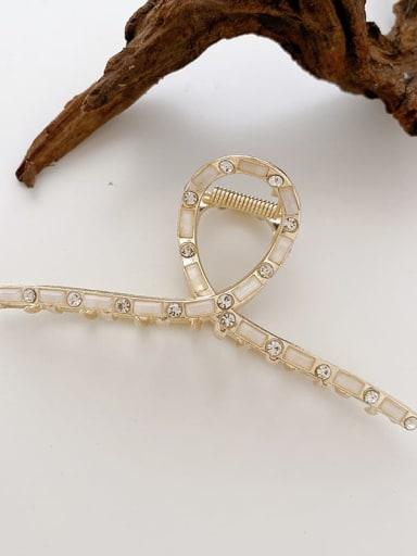Ribbon drill 11.5cm Alloy Imitation Pearl Minimalist Geometric Jaw Hair Claw