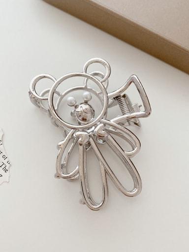 Bear silver 7.8cm Alloy  Minimalist BearJaw Hair Claw