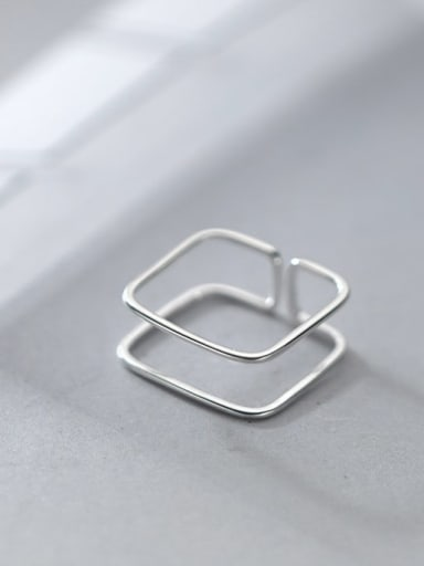 925 Sterling Silver Geometric Line Minimalist Band Ring