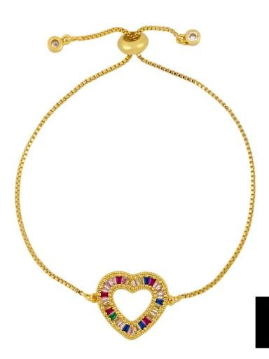 brc25 B Alloy Cubic Zirconia Letter Minimalist Bracelet