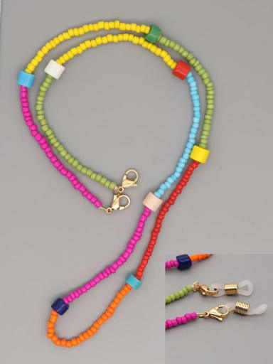 GZ N200011B Stainless steel Bead Multi Color Weave Bohemia Hand-woven Necklace