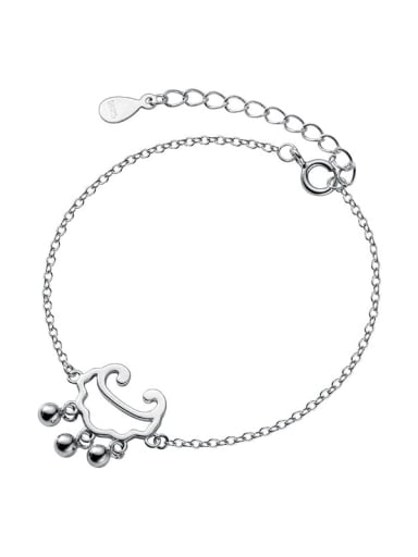 925 Sterling Silver Locket Minimalist Link Bracelet