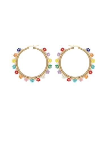 Stainless steel Geometric Bohemia Miyukitila  Pure Handmade  Earring