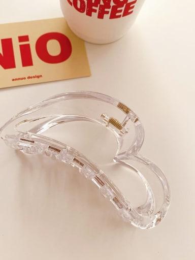 Transparent color 10cm Alloy  Acrylic Minimalist Geometric Jaw Hair Claw