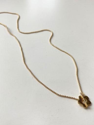 925 Sterling Silver Minimalist  Flower Beaded Necklace