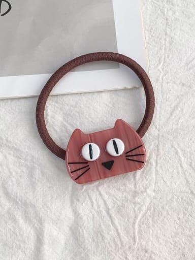 Big eye cat red Cellulose Acetate Cute Cat Hair Rope