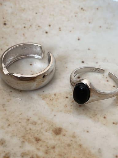 925 Sterling Silver Carnelian Irregular Vintage Band Ring