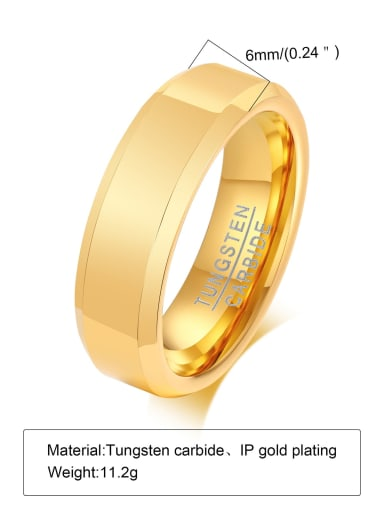 golden Stainless steel Geometric Minimalist Band Ring