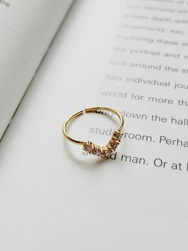 Diamond ring J 749 925 Sterling Silver Cubic Zirconia  Cross Minimalist Midi Ring