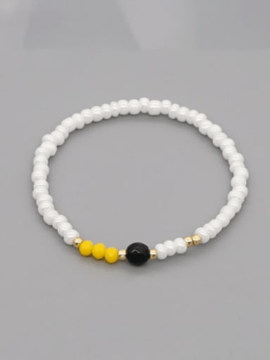 GZ B200007D Stainless steel Freshwater Pearl Irregular Minimalist Stretch Bracelet